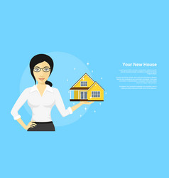 new house advertisement vector image