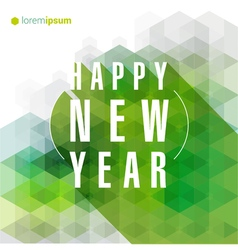 New Year greeting card template vector
