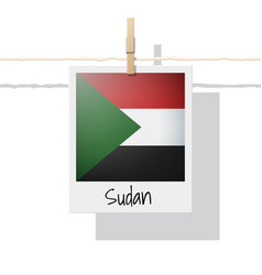 photo of sudan flag vector image