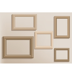 picture frames on wall vector image vector image
