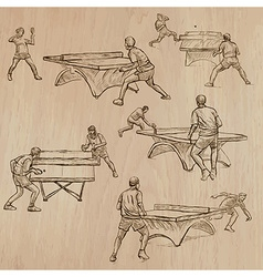 Ping Pong - Freehands Pack vector image