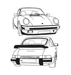 Porsche 911 carrera 1986 vector