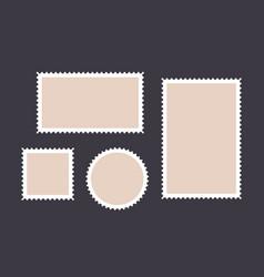 postage stamp set postage stamp collection vector image