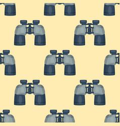 Professional seamless pattern binoculars glass vector