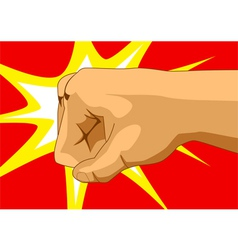 Punching Fist vector image