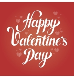 Saint Valentines day love poster with hearts vector image