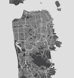 San francisco city plan detailed map vector