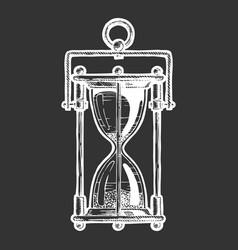 sandglass vector image