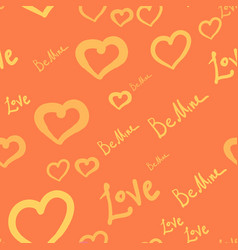 seamless tile with silhouettes of hearts and love vector image