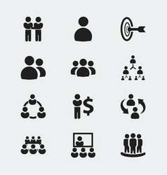 Set of 12 editable cooperation icons includes vector