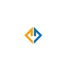 square line business company logo vector image