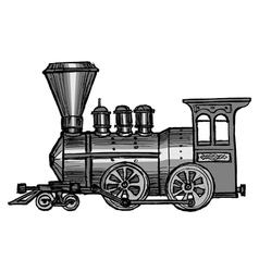 Steam train vector