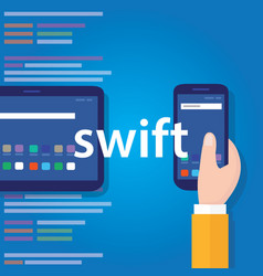 Swift mobile application programming language vector