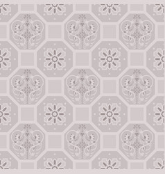 Taupe floor tiles ornament pattern print vector