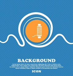 Thread Icon sign Blue and white abstract vector