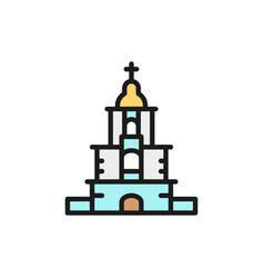 Ukrainian orthodox church sanctuary flat vector