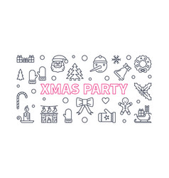 xmas party banner made with christmas vector image