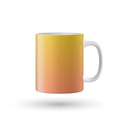 Yellow isolated cup vector image