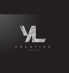 yl y l letter logo with zebra lines texture vector image