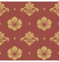 Baroque design wallpaper vector image