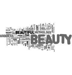 Beauty and mythology text word cloud concept vector