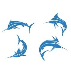 Big blue marlins vector image vector image