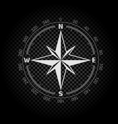 compass directions dark background vector image