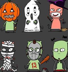 halloween character2 vector image vector image