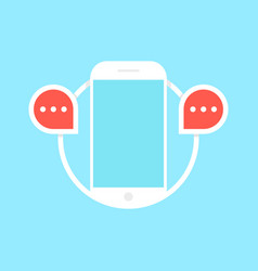 messaging with white phone vector image
