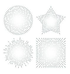 Vintage sunburst starburst abstract retro sunshine vector
