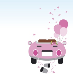 Wedding car design vector image vector image