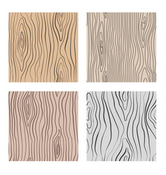 wooden seamless patterns set wood grain vector image
