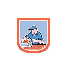 Bricklayer mason plasterer worker cartoon vector