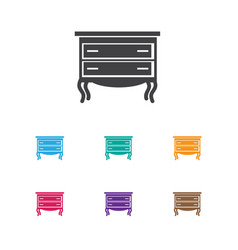 of interior symbol on drawer vector image