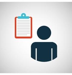 silhouette blue man email envelope message design vector image