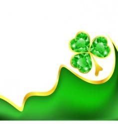 St Patrick's frame vector image
