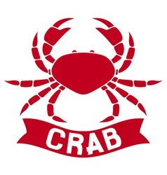 crab label vector image vector image