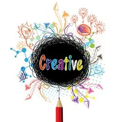 Creative pencil designs colorful concept vector image vector image