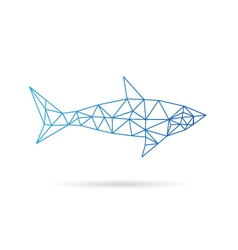 Shark abstract isolated on a white backgrounds vector image vector image