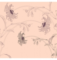 stylized floral design vector image vector image