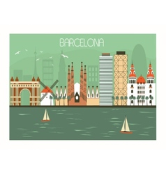 Barcelona Spain vector image vector image