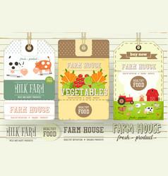farm price tag label vector image vector image