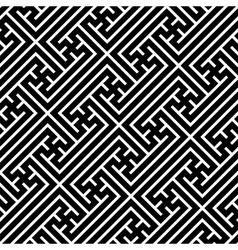 Seamless geometric swastika pattern vector image