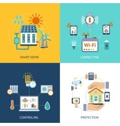Smart house design concept flat vector image
