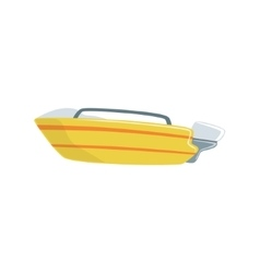 Yellow speed type of boat icon vector