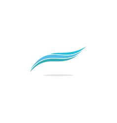 Abstract wave logo vector