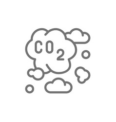 Air pollution industrial smog co2 emissions line vector