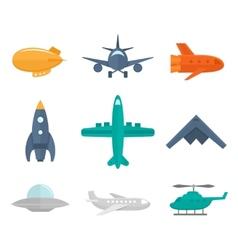 Aircraft Icons Flat vector image