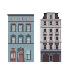 Beautiful detailed linear cityscape collection vector image