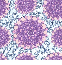 Beautiful pattern with blue flowers and floral vector